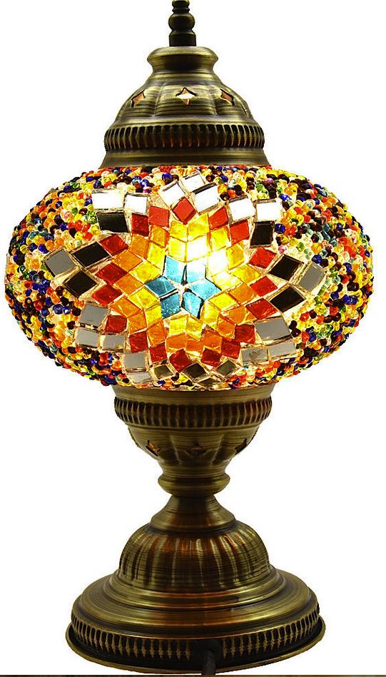 Turkish Ottoman Moroccan Style Glass Mosaic Lamps Lighting
